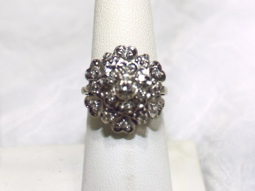 14kt White Gold Diamond Dinner Ring
