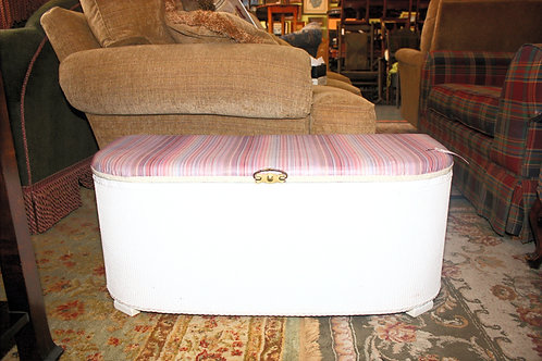 White Storage Bench Toy Chest