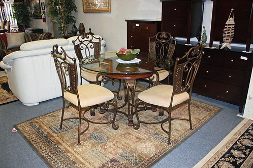 Ashley Furniture Glass Table & 4 Chairs