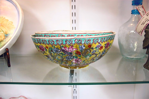 10 Antique Metal Nesting Bowls