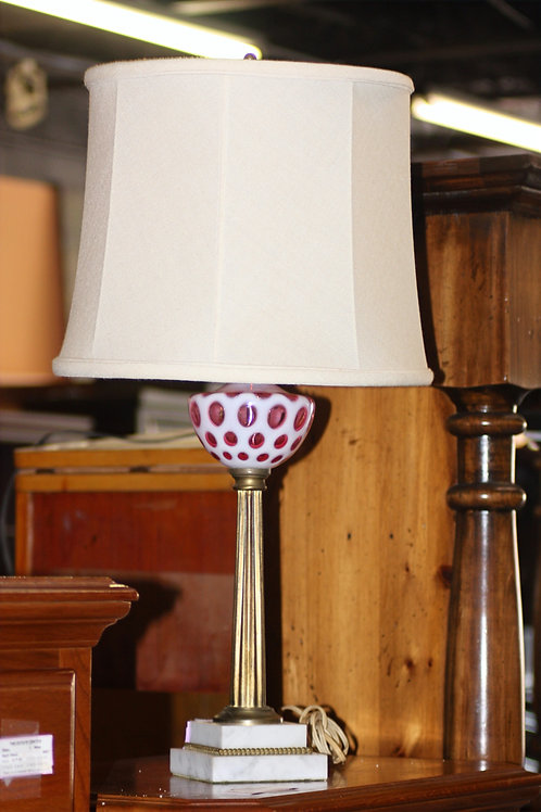 Antique Fenton#81 Cranberry Lamp