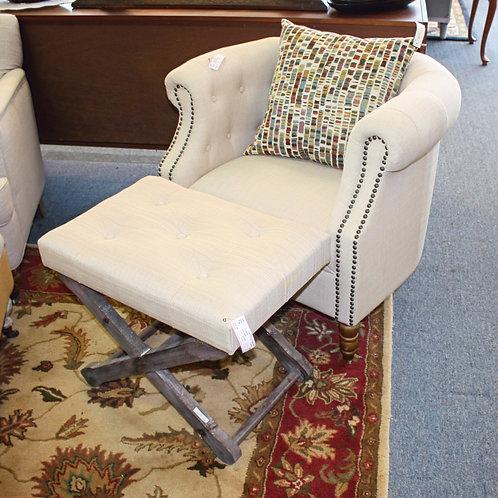 Horseshoe Chair & Ottoman