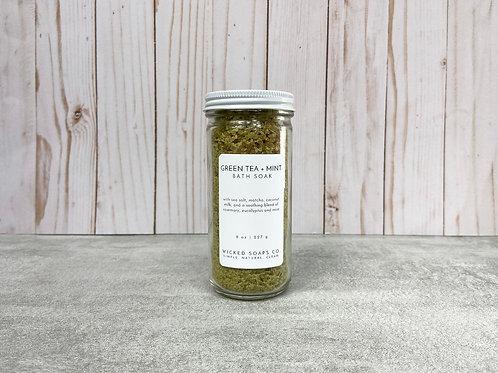 Green Tea + Mint Bath Soak by Wicked Soaps Co.