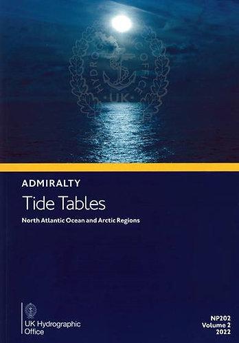 NP202 - Tide Tables - North Atlantic and Arctic Regions, 2022 Edition