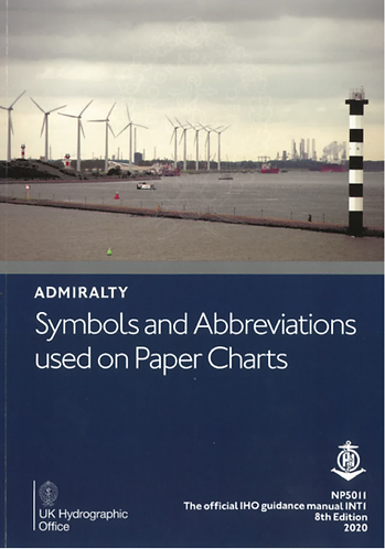 NP5011 - Admiralty - Symbols and Abbreviations used on Paper Charts
