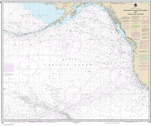530 - North America West Coast San Diego to Aleutian Islands and Hawai'ian Islan