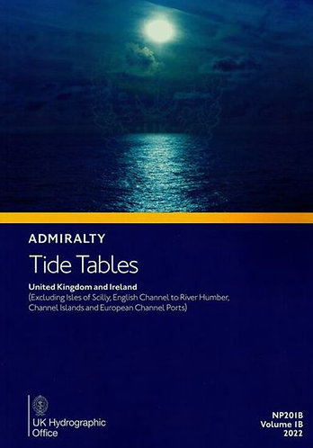 NP201B - Tide Tables - United Kingdom and Ireland, 2022 Edition