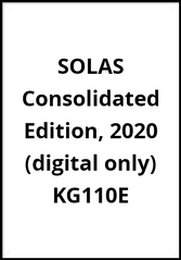 SOLAS Consolidated Edition, 2020 (digital only), KG110E