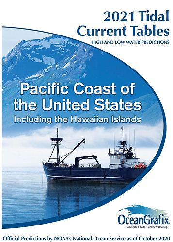 PCCT Tidal Current Tables 2021 – Pacific Coast of the United States including th