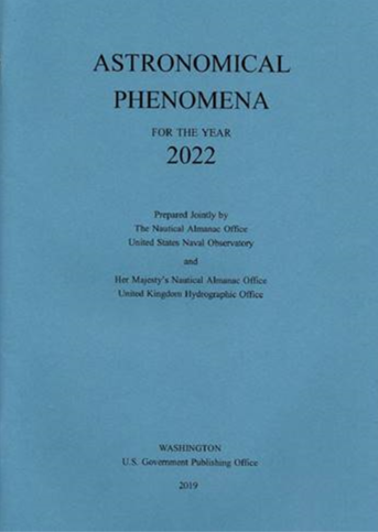 GP200 - Astronomical Phenomena for the Year of 2022