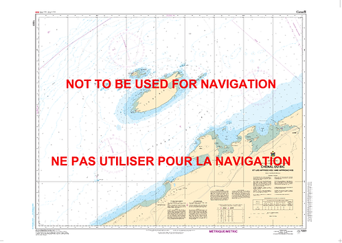 RNC1223 - Chenal du Bic et les approches/and approaches