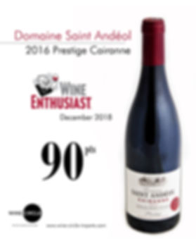 Domaine Saint andeol cairanne_wine enthi
