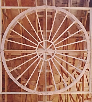 Intricate dome framing at a current proj