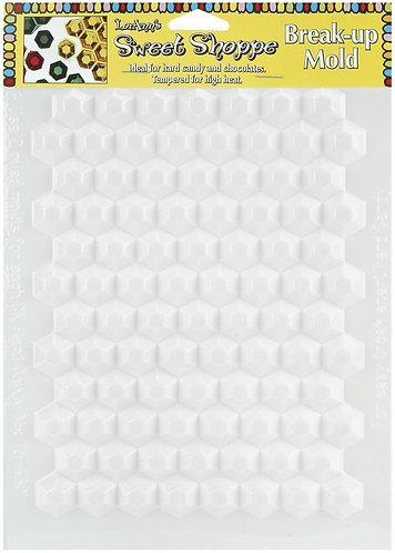 Hexagon Break Up Sheet Candy Mold