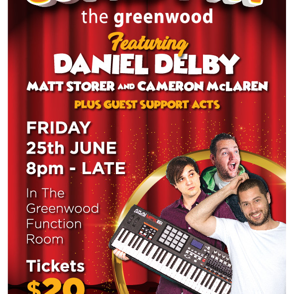 Comedy Night at The Greenwood June 25th