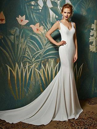 Janine dress blue by enzoani at zadika bridal