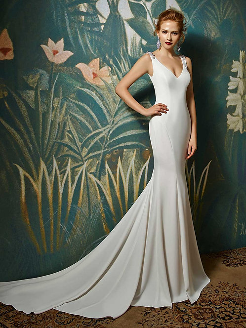 Janine dress blue by enzoani at zadika bridal