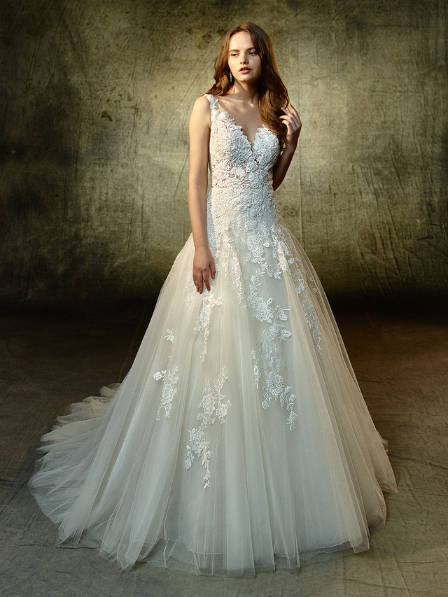 Beautiful Lace Gown from Blue by Enzoani just in!