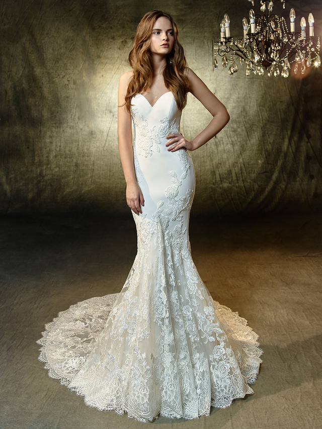 Stunning Strapless gown from Blue by Enzoani 2019
