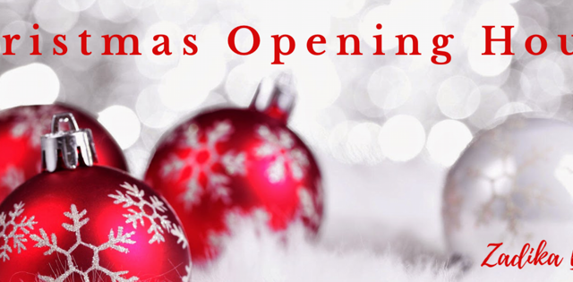 Christmas and NewYears Opening Hours