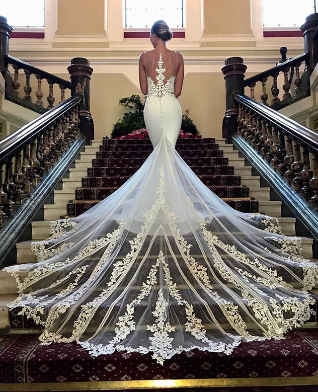 She's here! Linda from the 2019 Blue by Enzoani Collection
