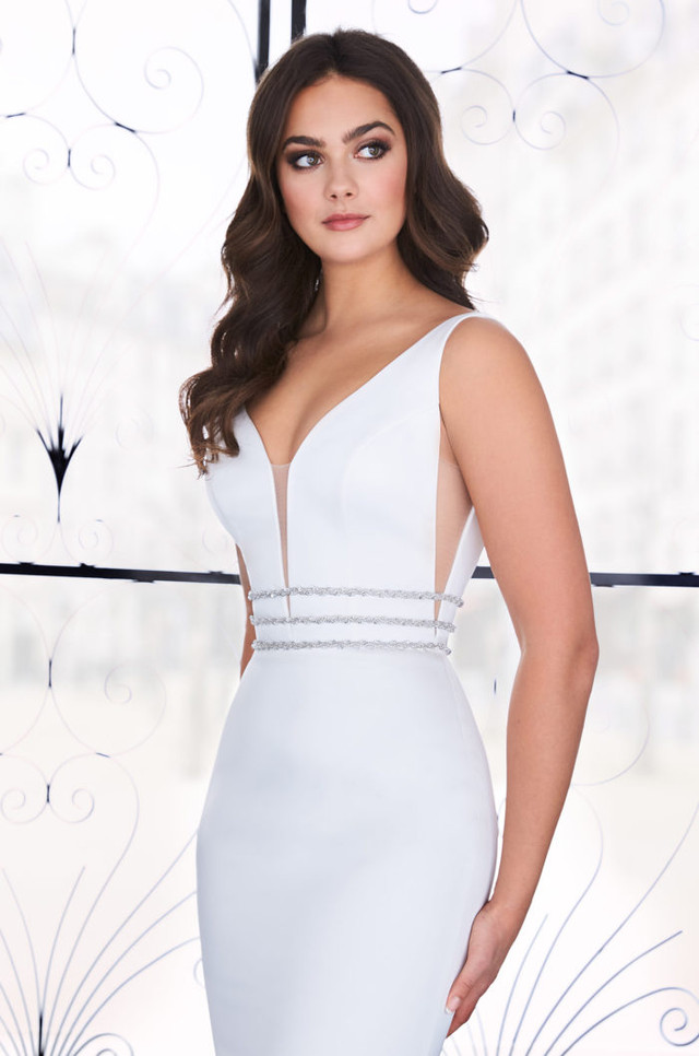 New Arrival: Paloma Blanca Satin Gown