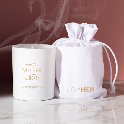 Mother of the Groom White Candle