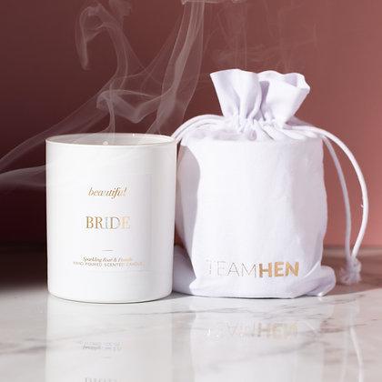 Beautiful Bride White Candle