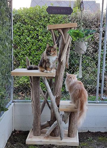 Arbre à chats extérieur 3 plateaux dont un grand