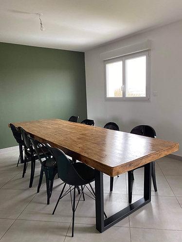Table de salle à manger Pieds Métal 1m x 3m
