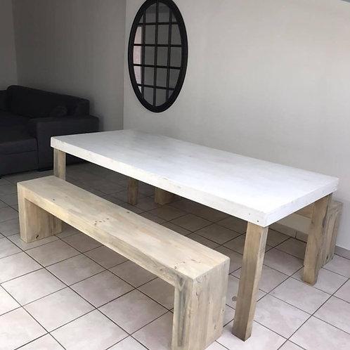 Table de salle à manger en bois  1m x 2m