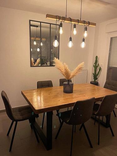Table de salle à manger Pieds Métal 1m x 2m