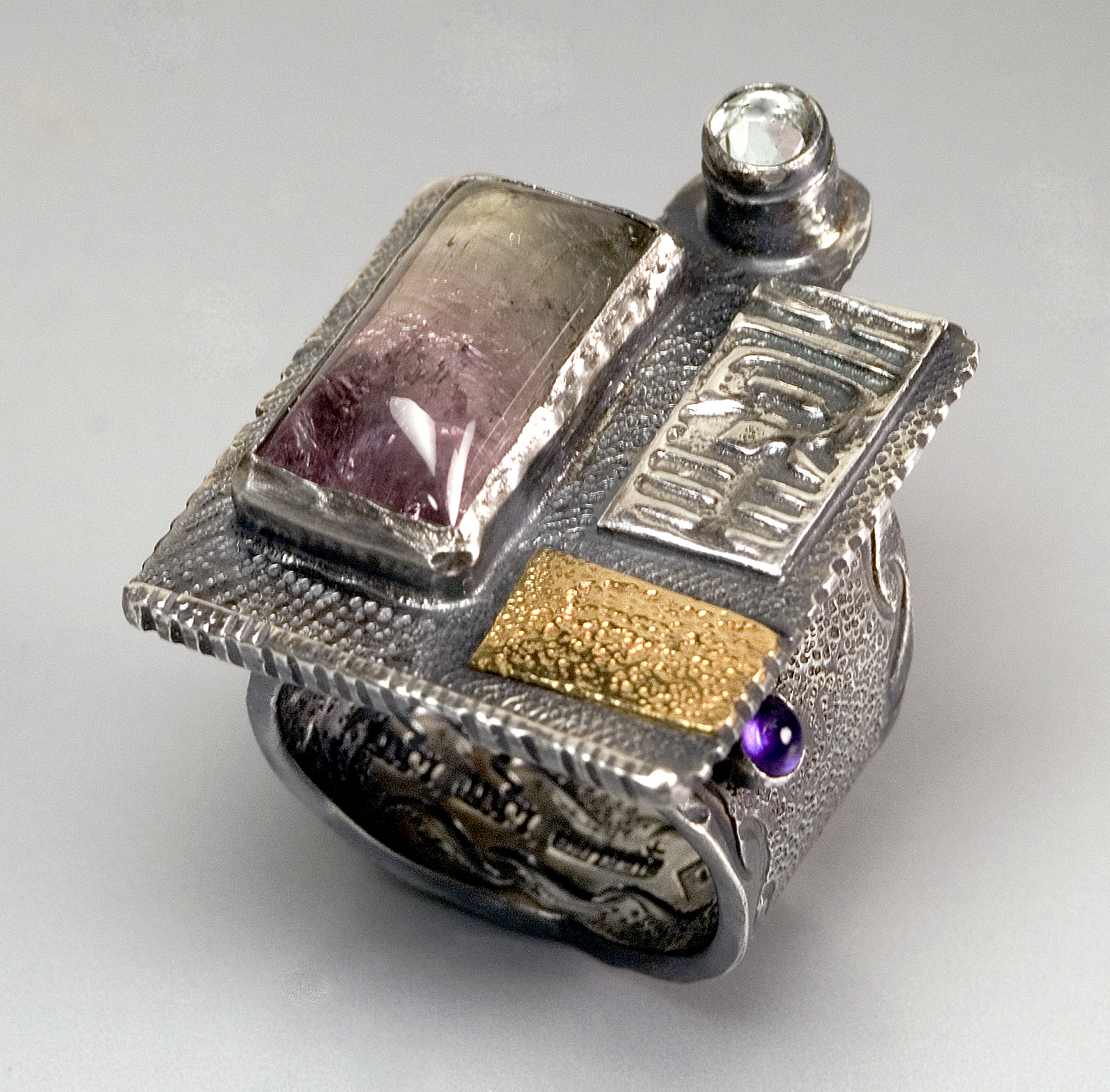 Bi-color Tourmaline Ring- collected