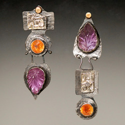 Carved Amethyst ERs