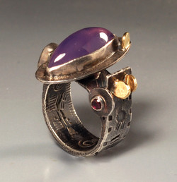 Lavender Chalcedony 2 Ring