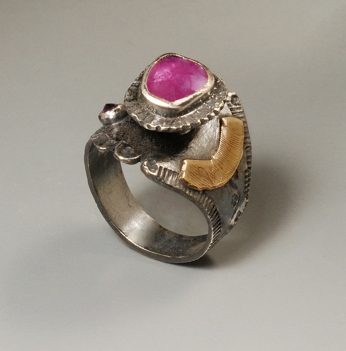Faceted Sapphire 2 Ring