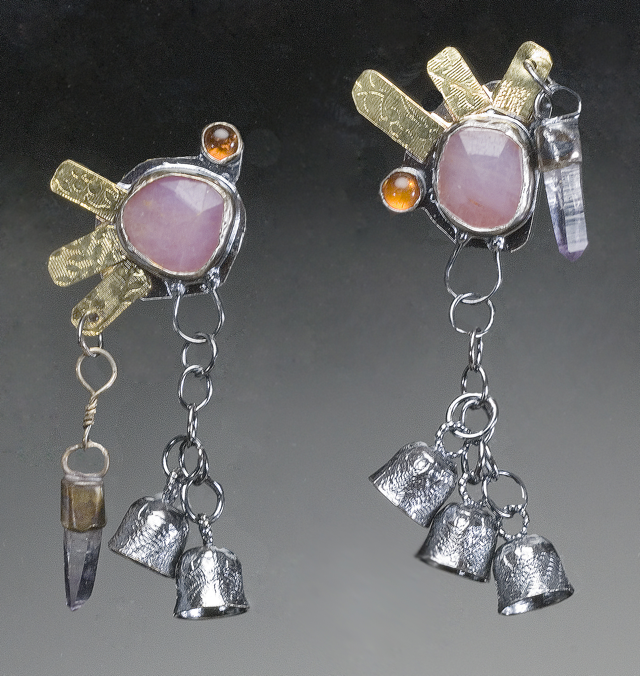 Corundum Earrings- collected