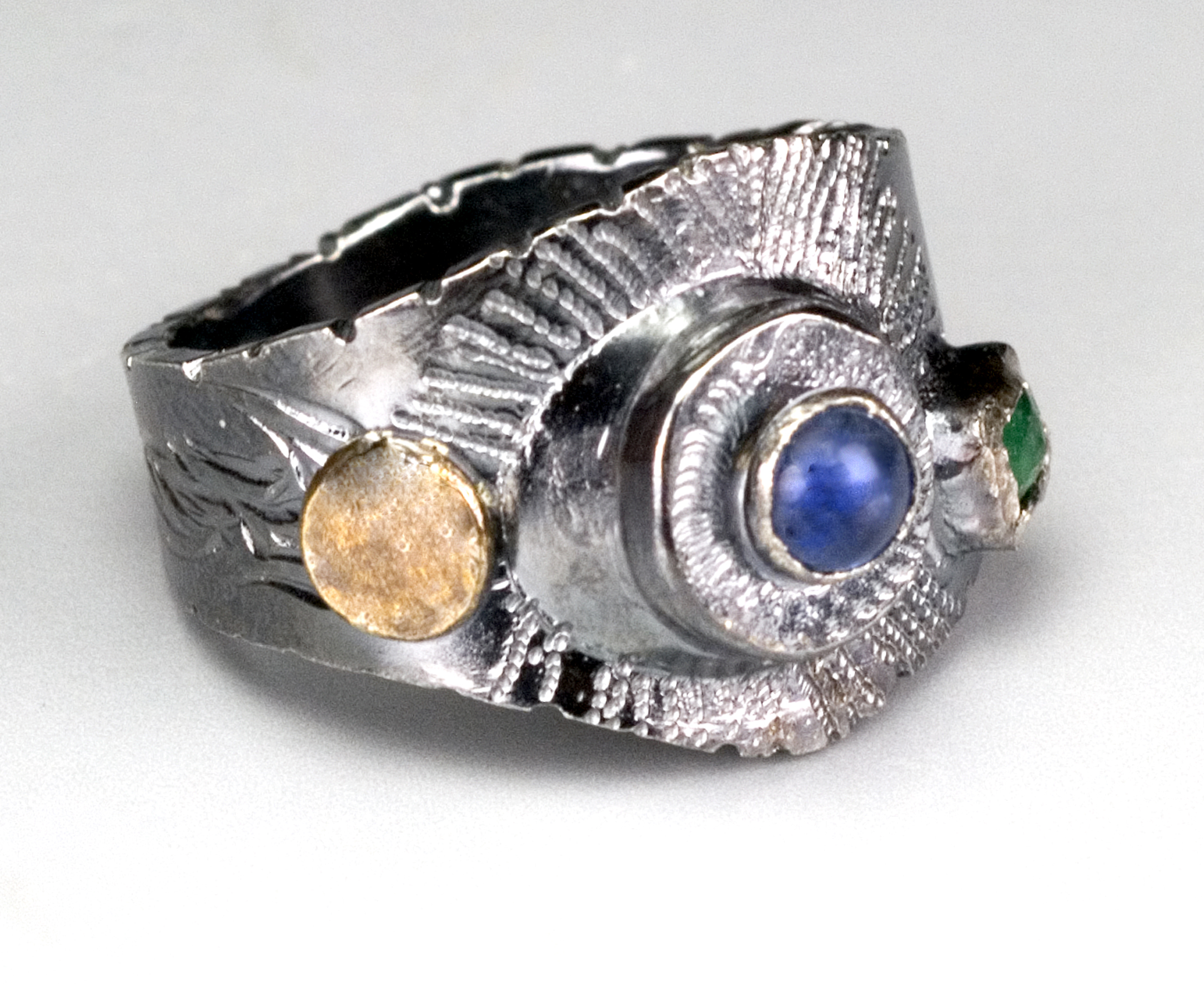 Emerald/Sapphire Ring- collected