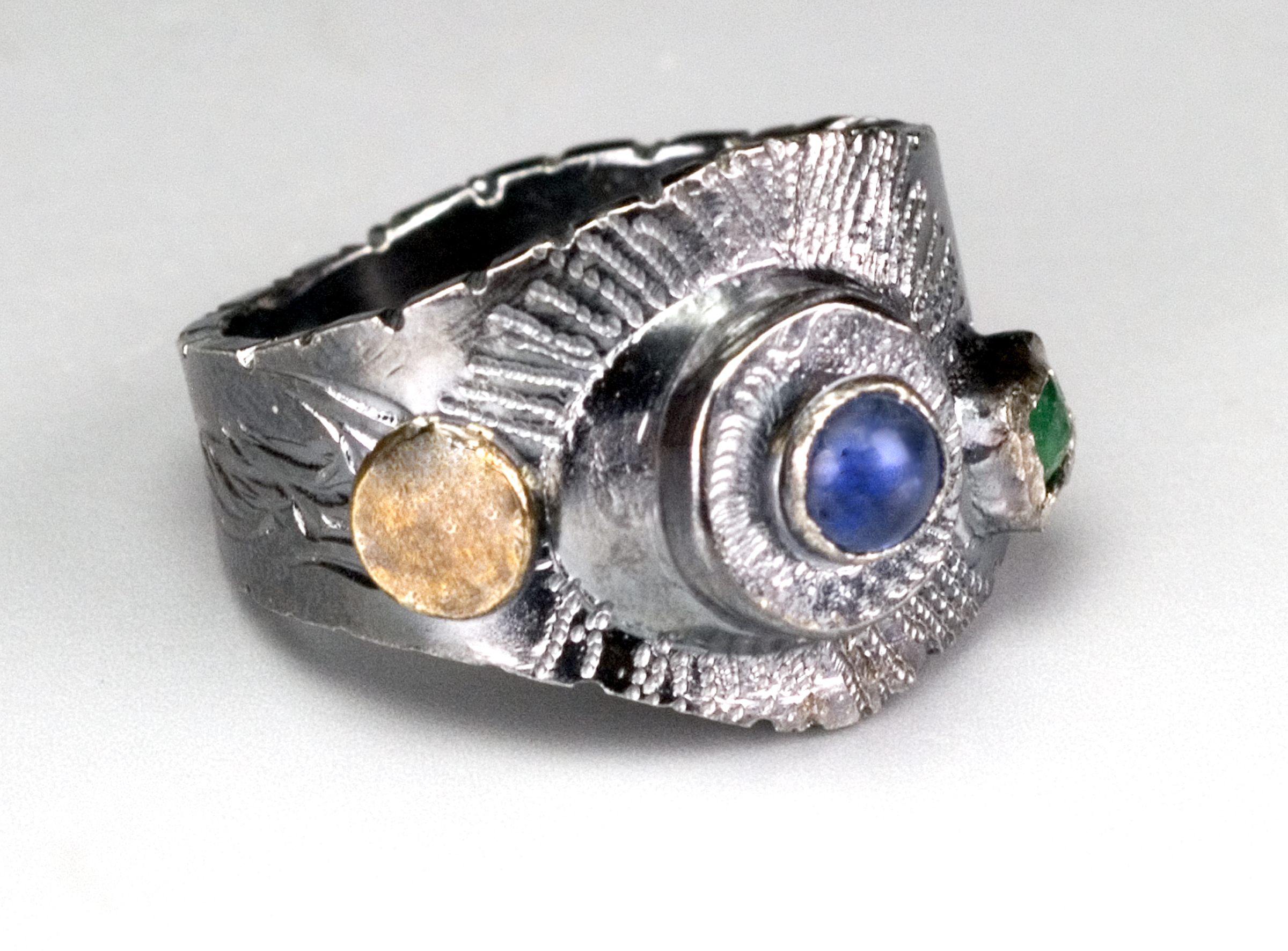 Emerald/Sapphire Ring-Collected