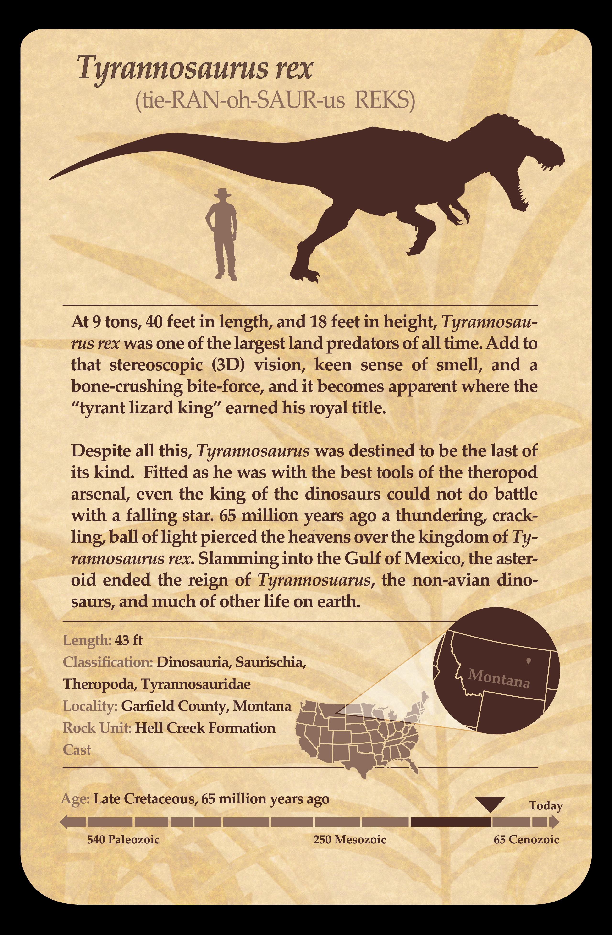 Tyrannosaurus sign