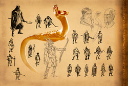 Amalickiah's blade with snake hilt