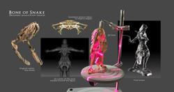 Armor based on 3D scanned boa skull