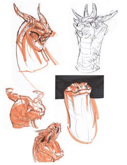 Ute Tribe Horned Snake Sketches