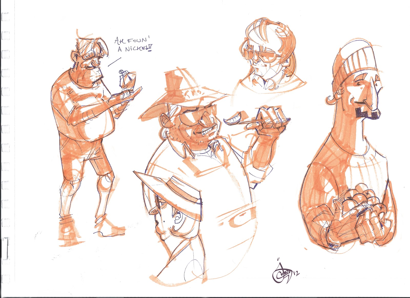 Provo Farmers' Market sketches