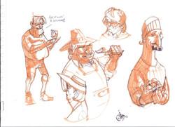 Provo Farmers' Market sketches