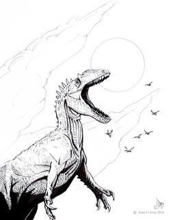 Allosaurus for Treehouse Museum (Line)