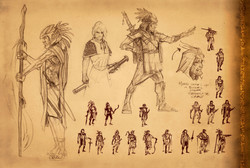 Captain Moroni sketches