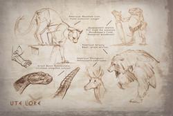 Utah Wildlife Sketches