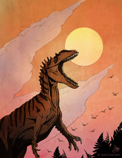 Allosaurus for Treehouse Museum (Color)