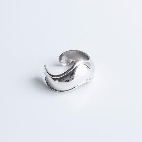 Wavy Silver Bangle - SILVER